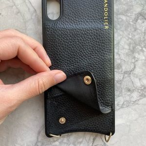 Bandolier black leather case - iPhone XS Max